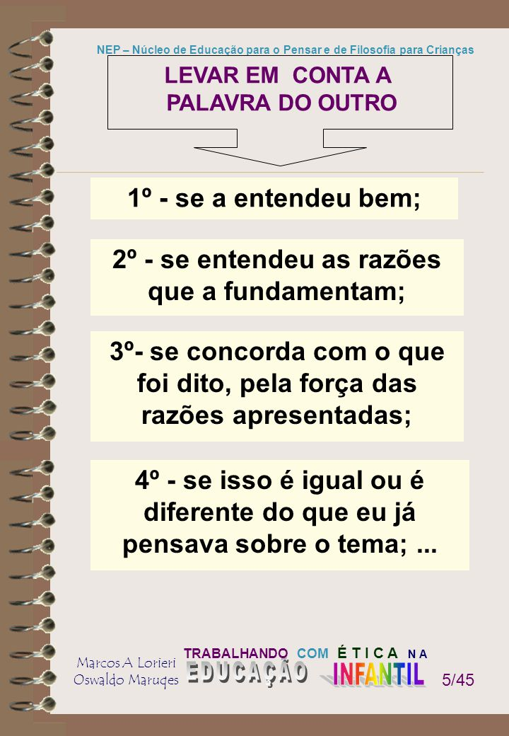 2º - se entendeu as razões que a fundamentam;