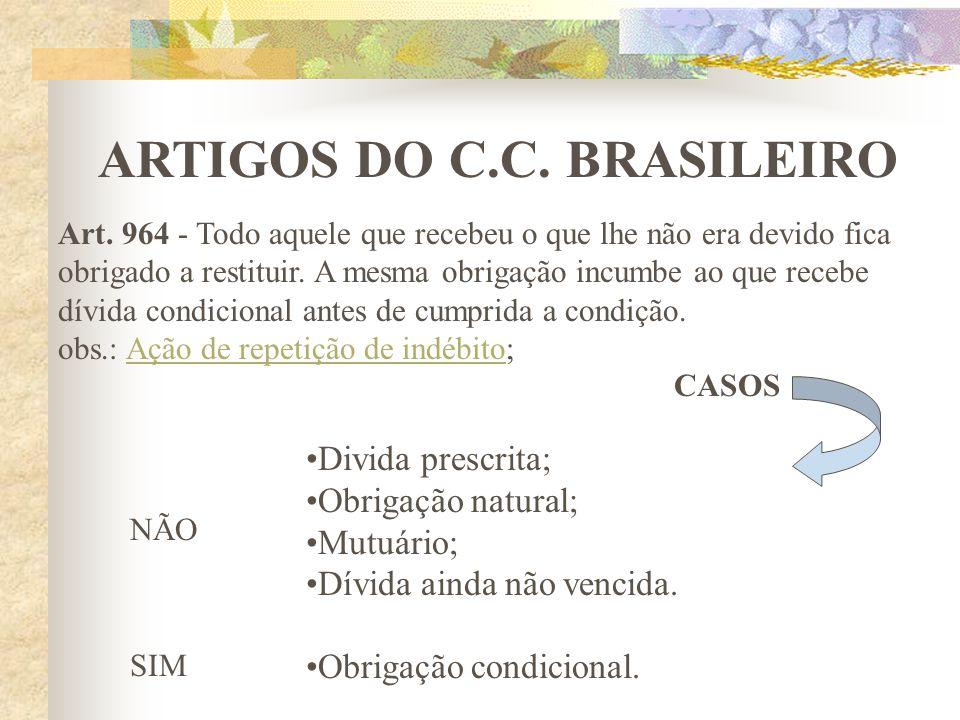 ARTIGOS DO C.C. BRASILEIRO