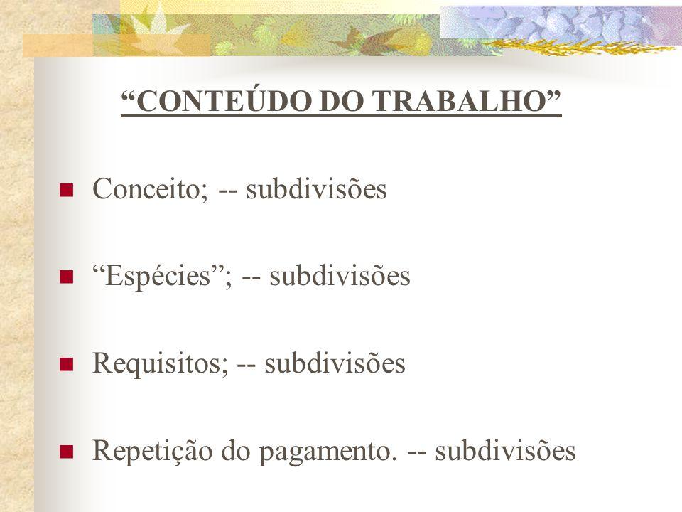 CONTEÚDO DO TRABALHO