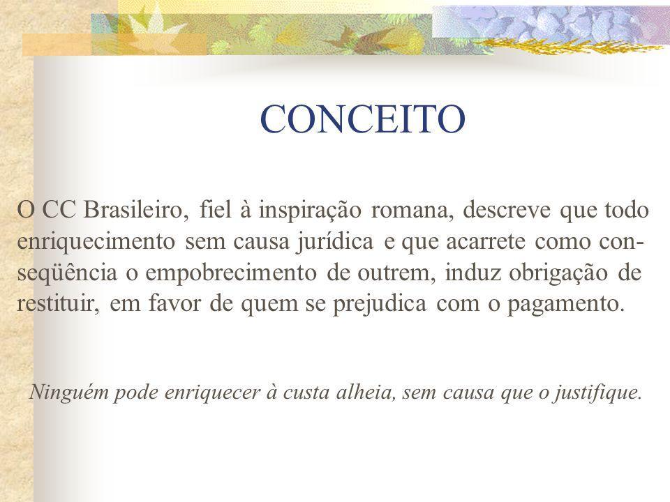 CONCEITO O CC Brasileiro, fiel à inspiração romana, descreve que todo