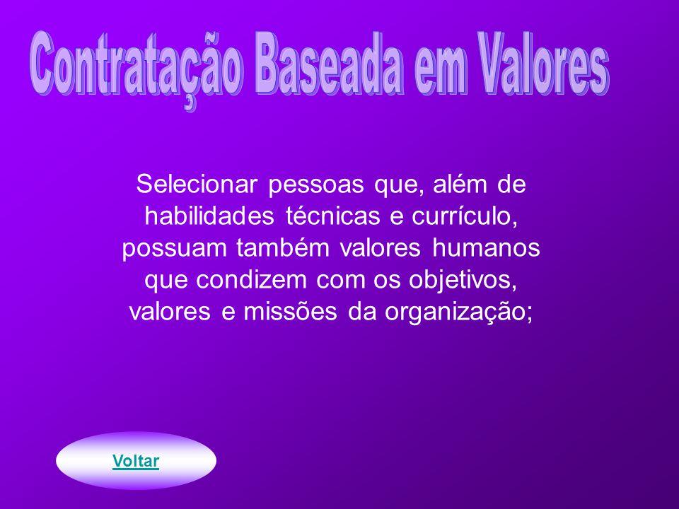 Contratação Baseada em Valores