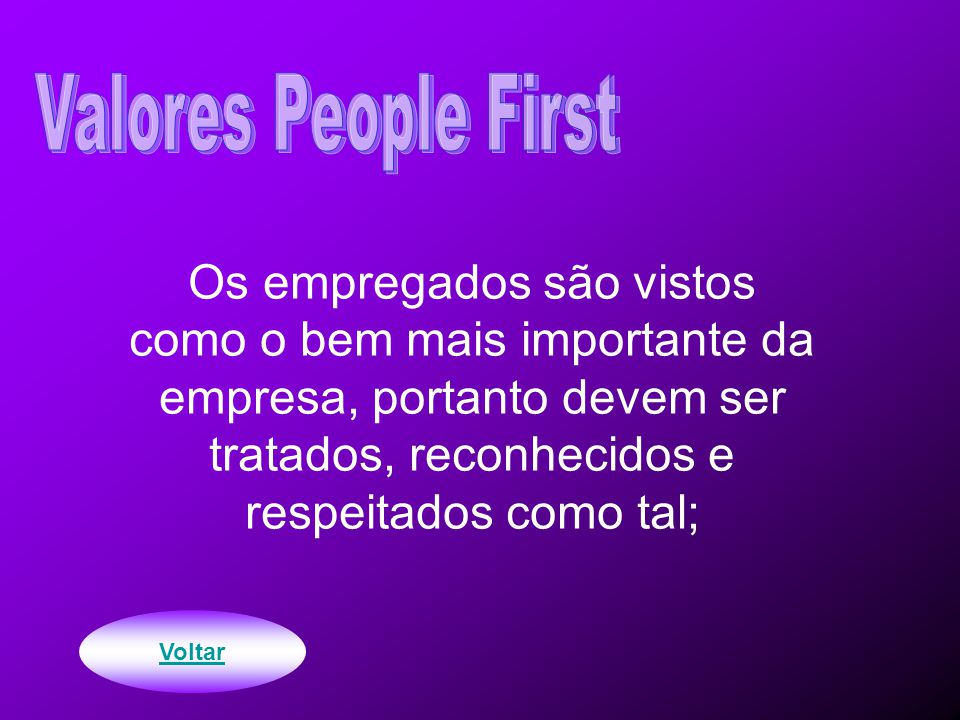 Valores People First