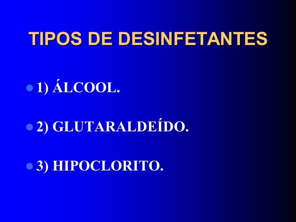 TIPOS DE DESINFETANTES