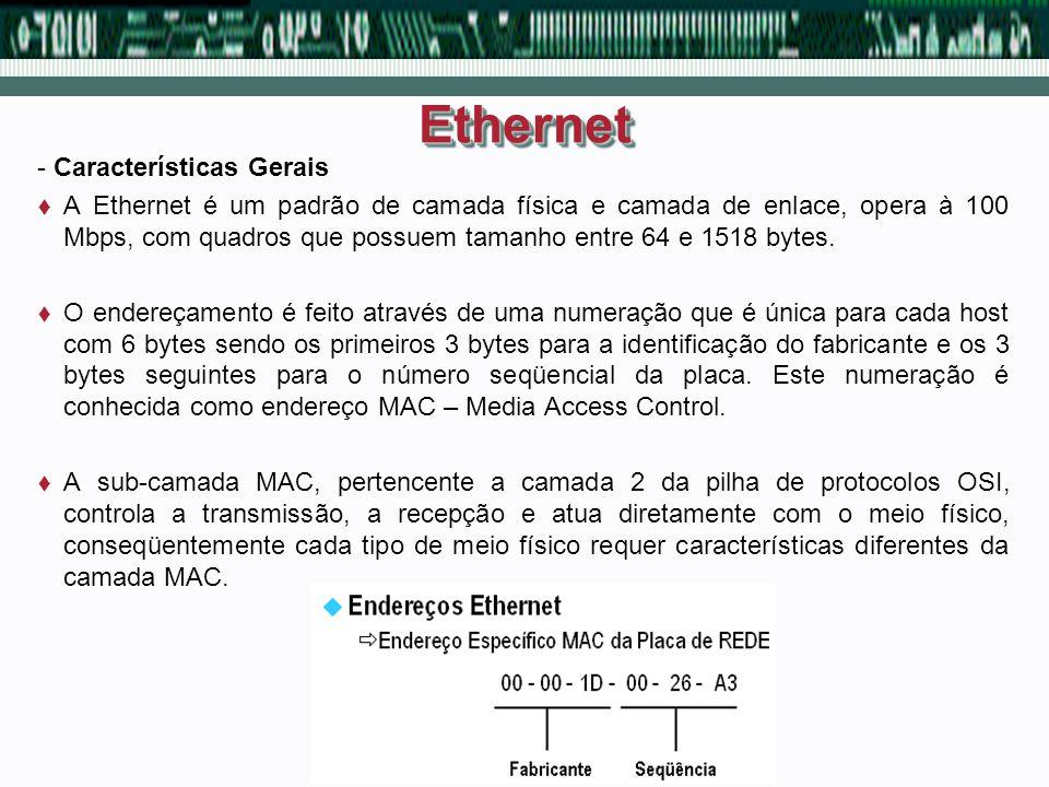 Ethernet - Características Gerais