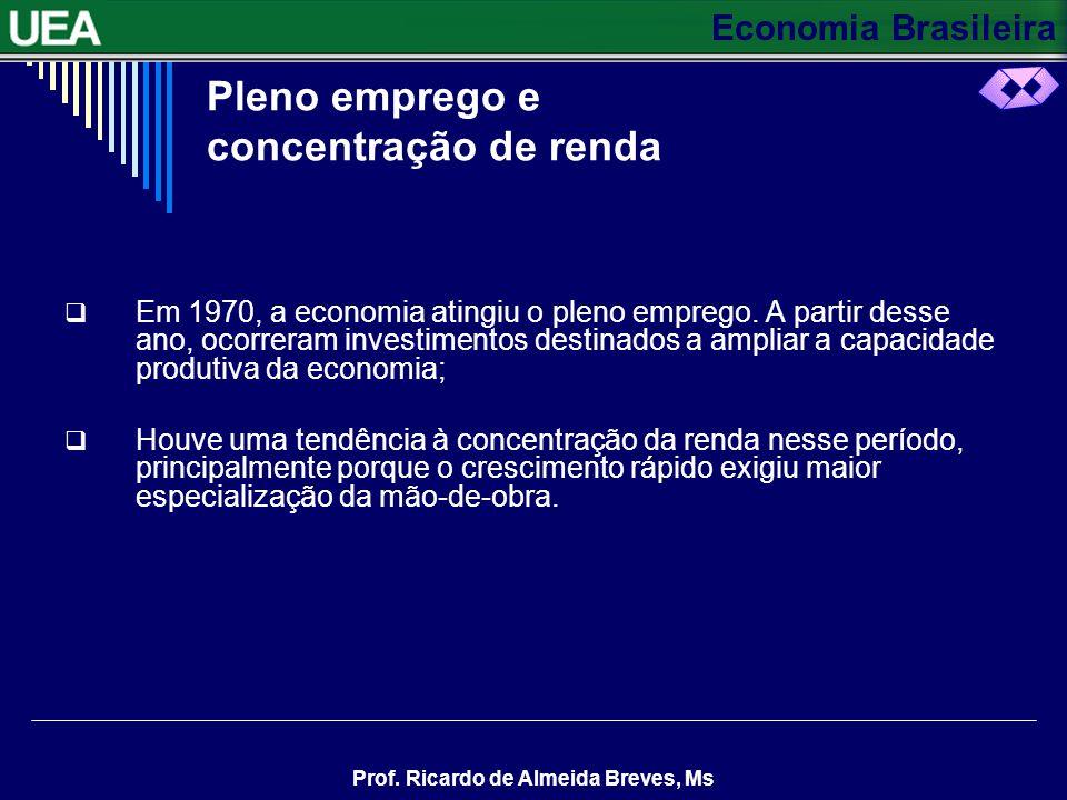 Pleno emprego e concentração de renda