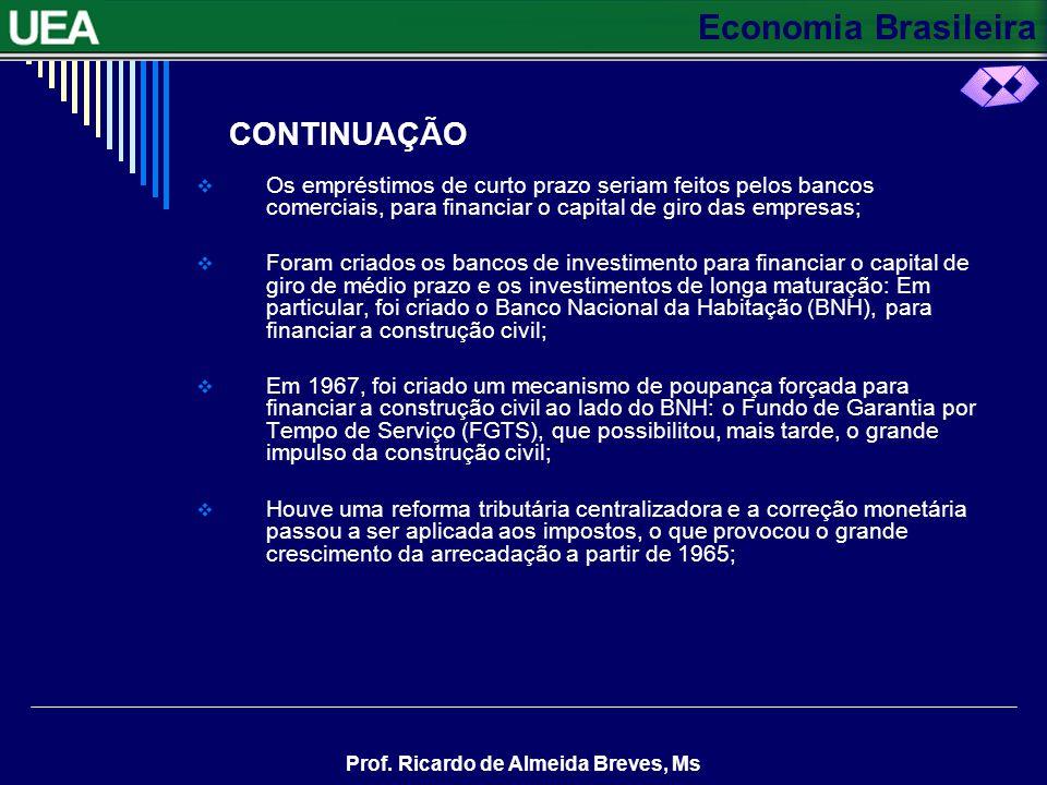 CONTINUAÇÃO Os empréstimos de curto prazo seriam feitos pelos bancos comerciais, para financiar o capital de giro das empresas;