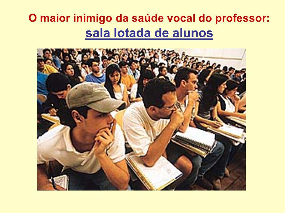 O maior inimigo da saúde vocal do professor: sala lotada de alunos