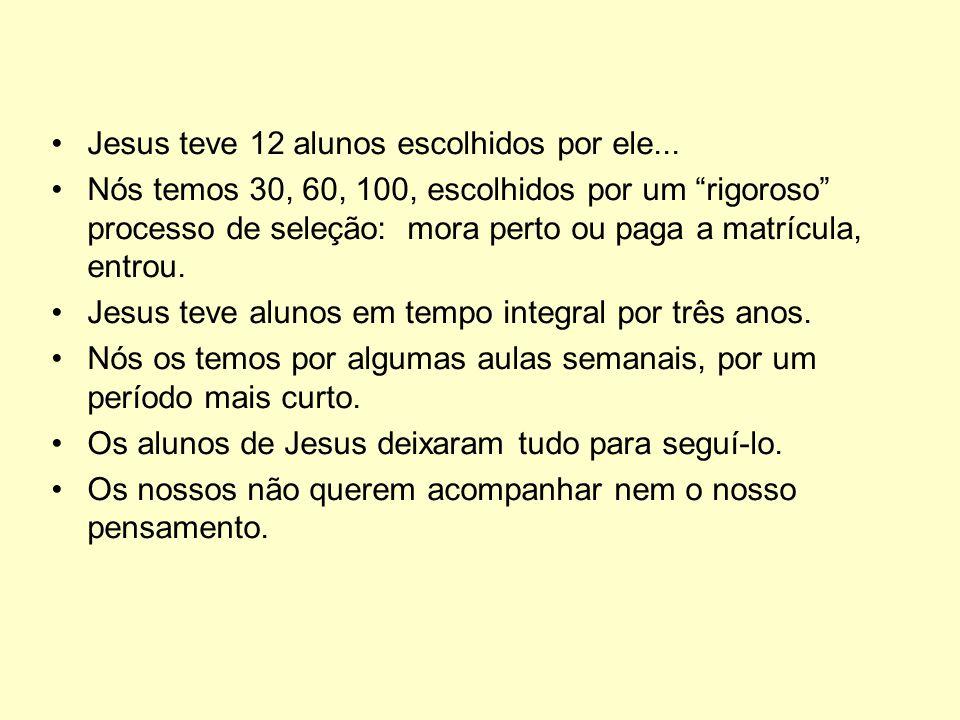 Jesus teve 12 alunos escolhidos por ele...