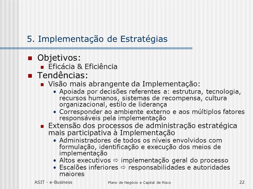 5. Implementação de Estratégias