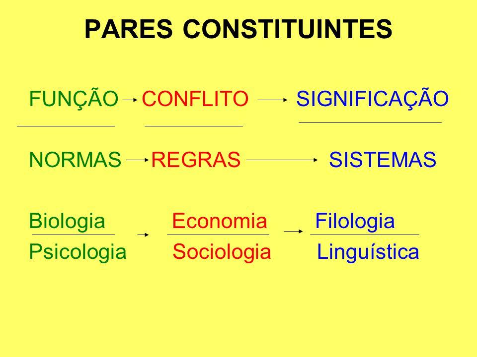 PARES CONSTITUINTES FUNÇÃO CONFLITO SIGNIFICAÇÃO