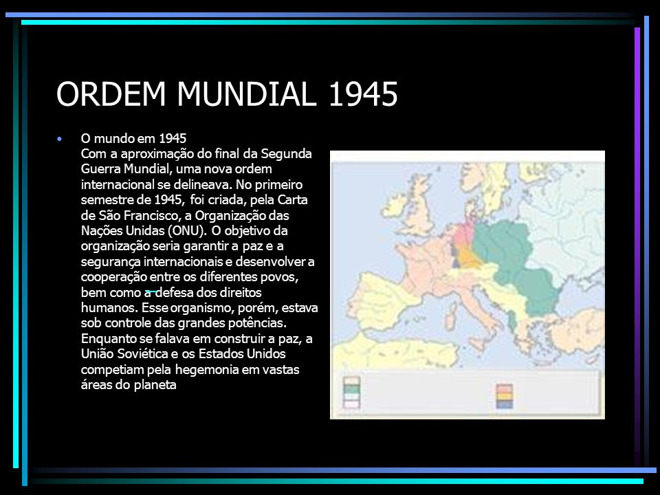 ORDEM MUNDIAL 1945