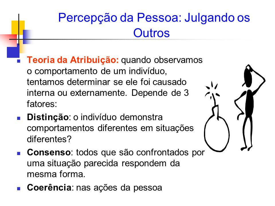 Percepção da Pessoa: Julgando os Outros