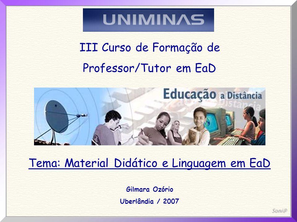 III Curso de Formação de Professor/Tutor em EaD