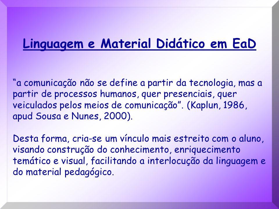 Linguagem e Material Didático em EaD