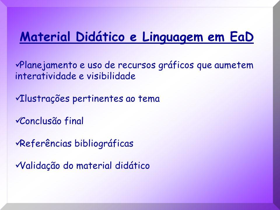 Material Didático e Linguagem em EaD