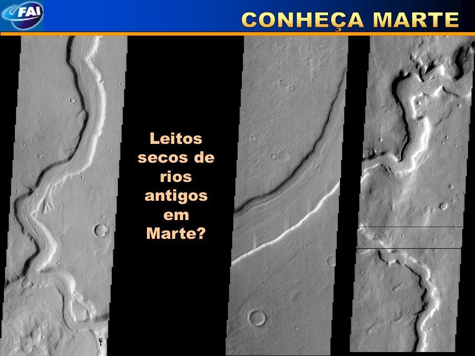 Leitos secos de rios antigos em Marte
