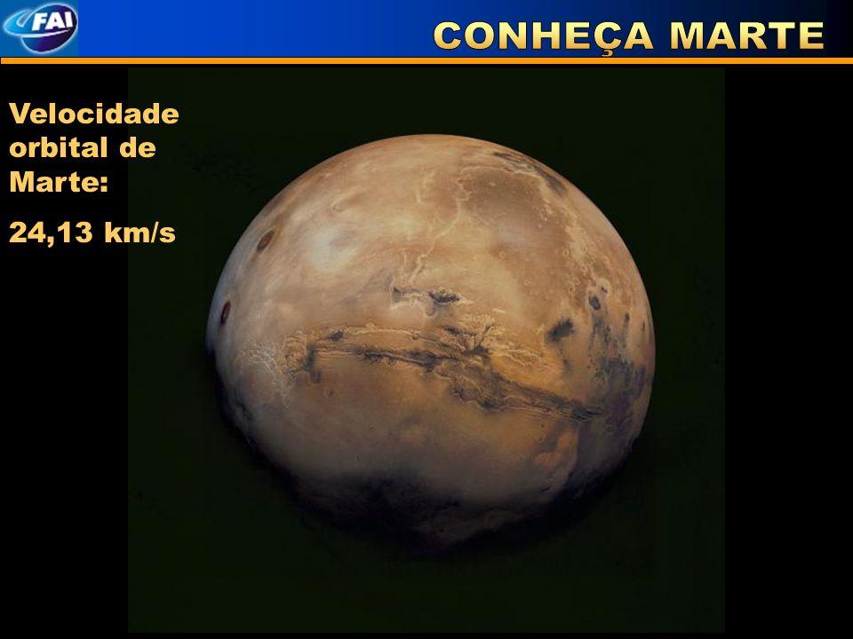 CONHEÇA MARTE Velocidade orbital de Marte: 24,13 km/s