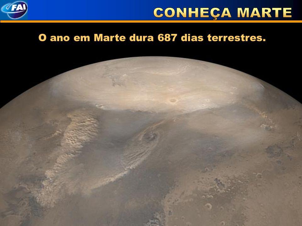 CONHEÇA MARTE O ano em Marte dura 687 dias terrestres.
