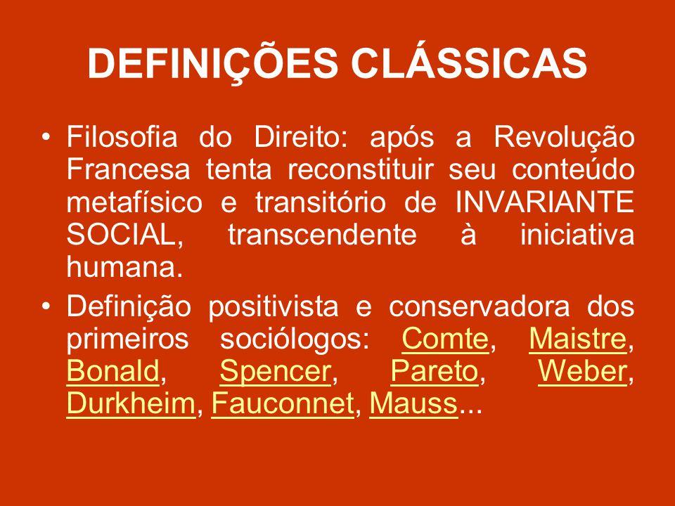 DEFINIÇÕES CLÁSSICAS