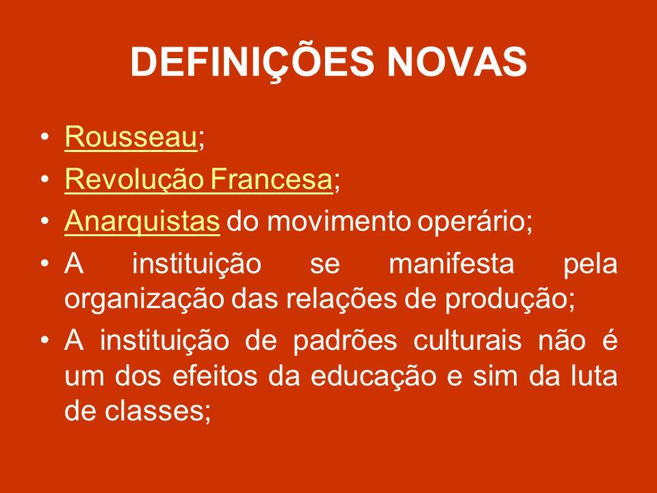 DEFINIÇÕES NOVAS Rousseau; Revolução Francesa;