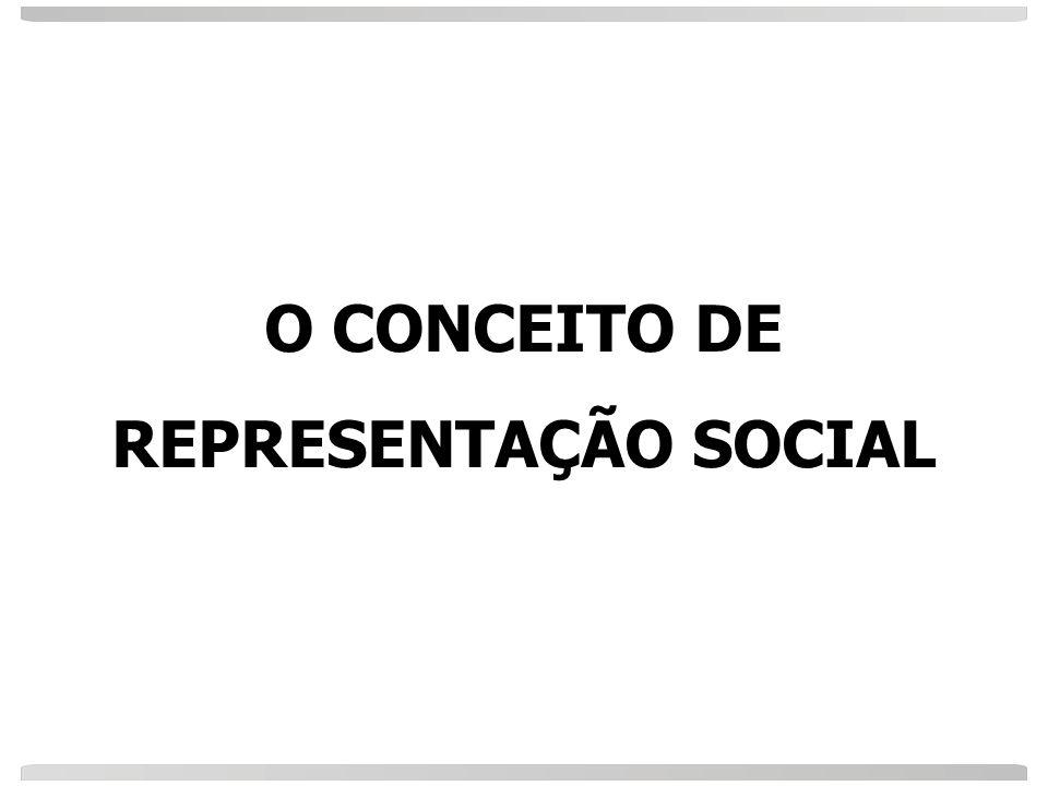 O CONCEITO DE REPRESENTAÇÃO SOCIAL