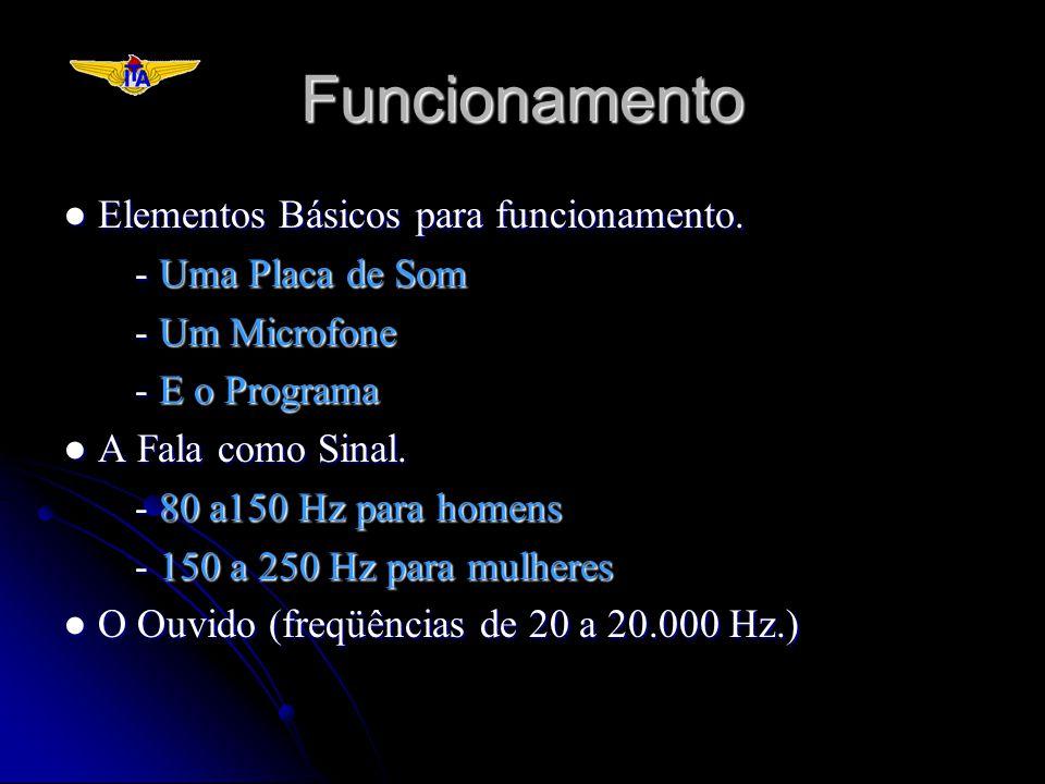 Funcionamento ● Elementos Básicos para funcionamento.