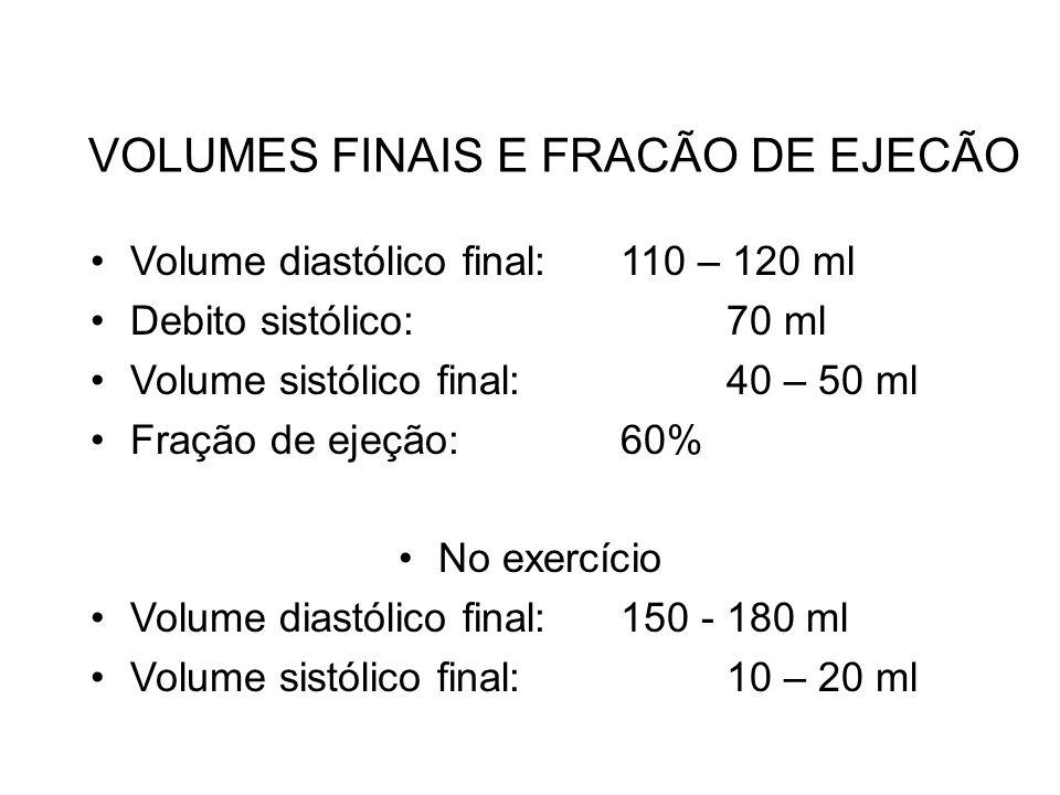 VOLUMES FINAIS E FRACÃO DE EJECÃO