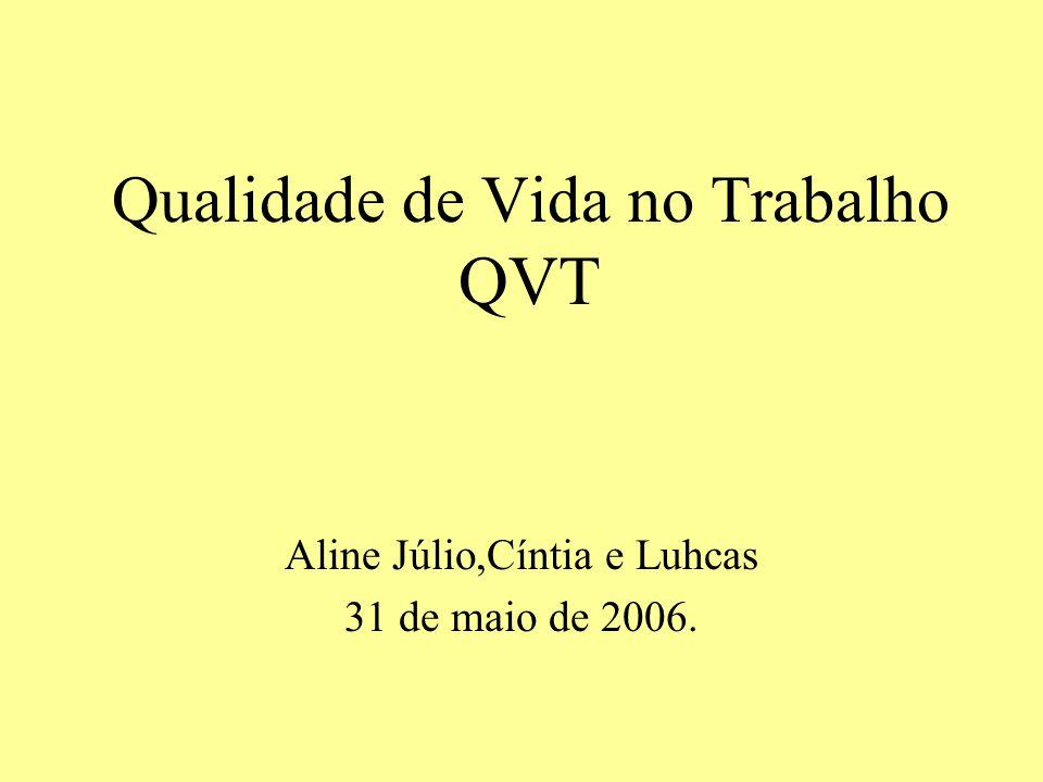 Qualidade de Vida no Trabalho QVT
