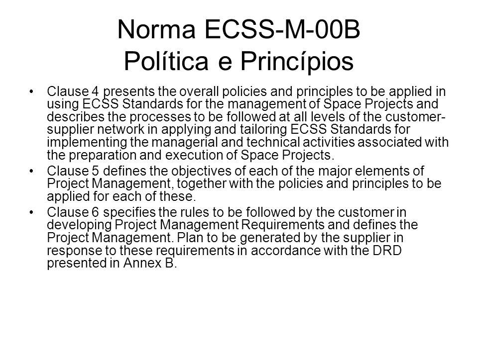 Norma ECSS-M-00B Política e Princípios