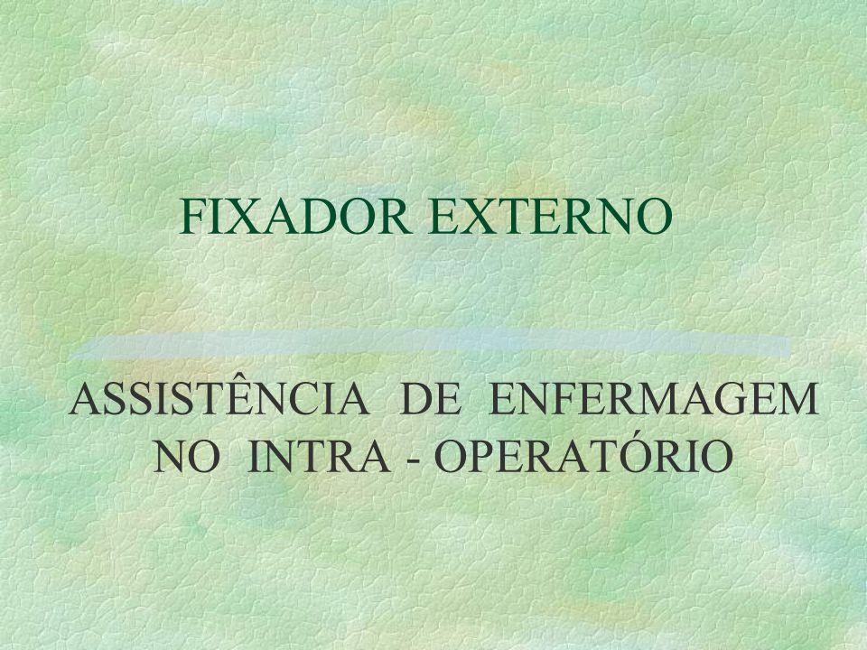 ASSISTÊNCIA DE ENFERMAGEM NO INTRA - OPERATÓRIO