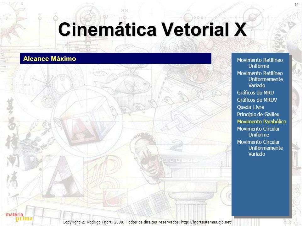 Cinemática Vetorial X Alcance Máximo Movimento Retilíneo Uniforme