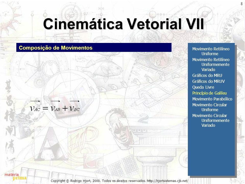 Cinemática Vetorial VII