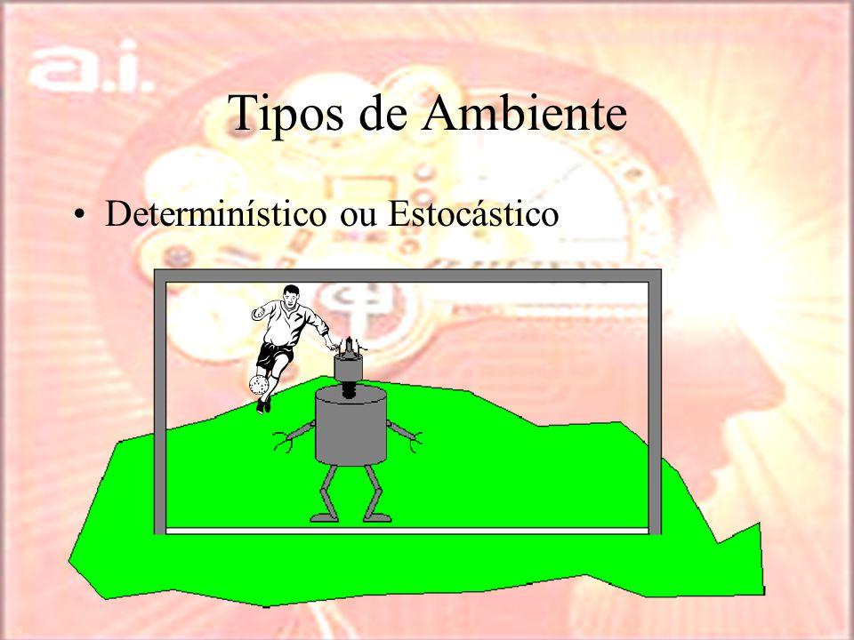 Tipos de Ambiente Determinístico ou Estocástico