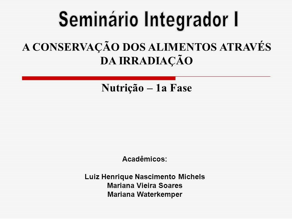 A CONSERVAÇÃO DOS ALIMENTOS ATRAVÉS Luiz Henrique Nascimento Michels