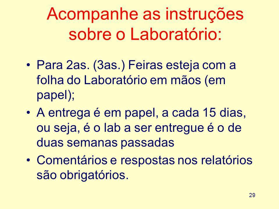 Acompanhe as instruções sobre o Laboratório: