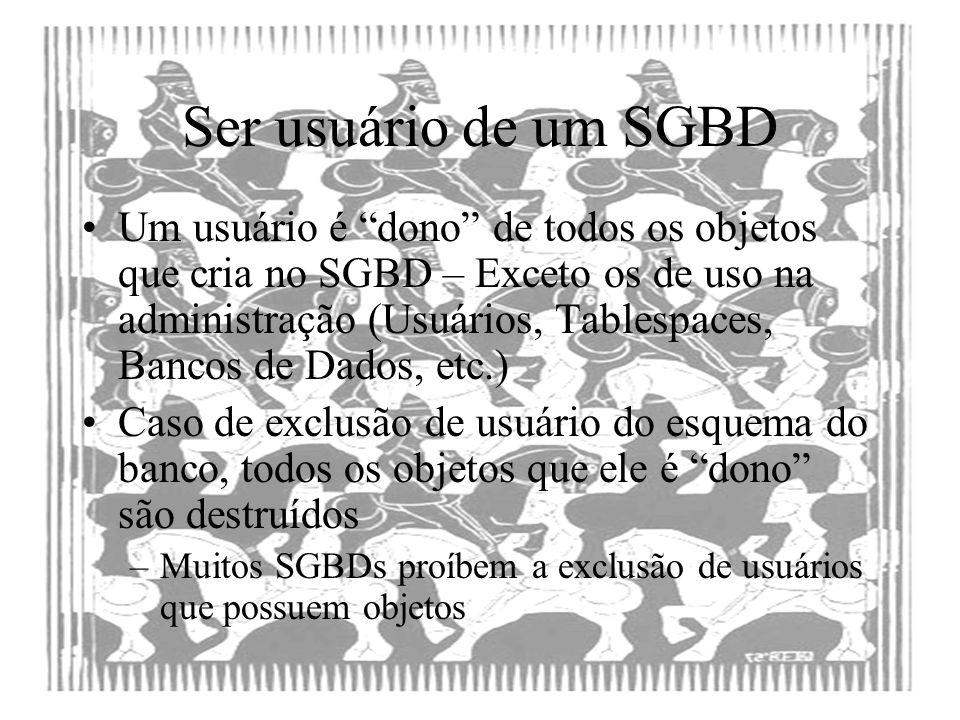 Ser usuário de um SGBD