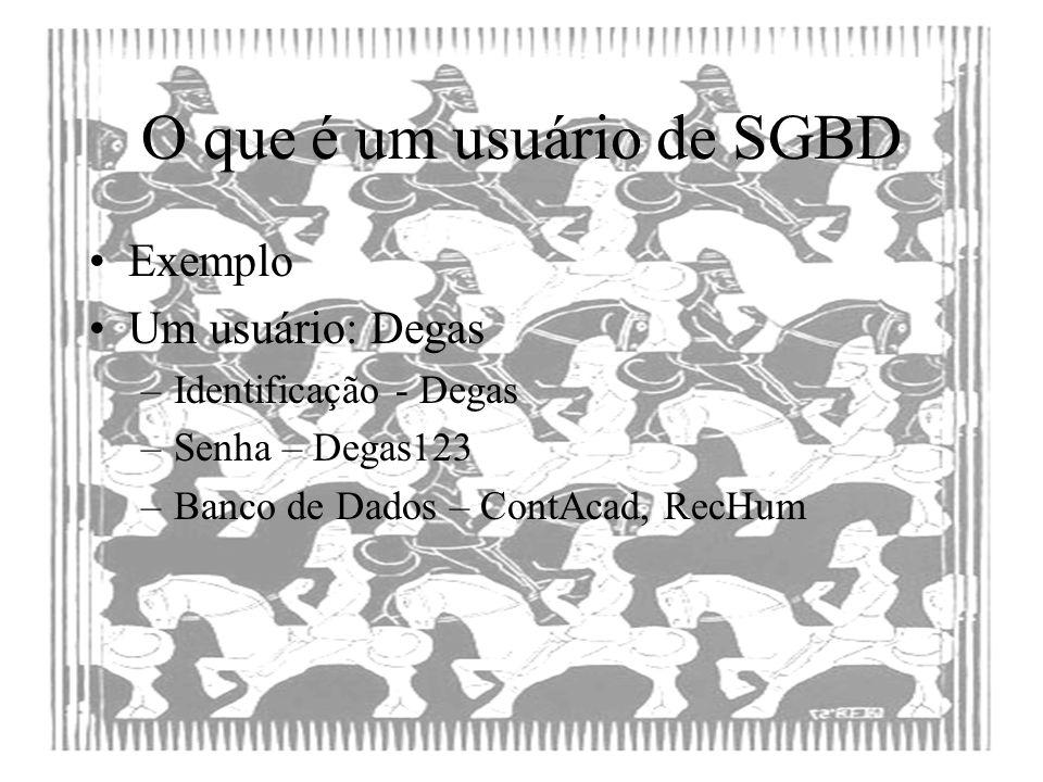 O que é um usuário de SGBD