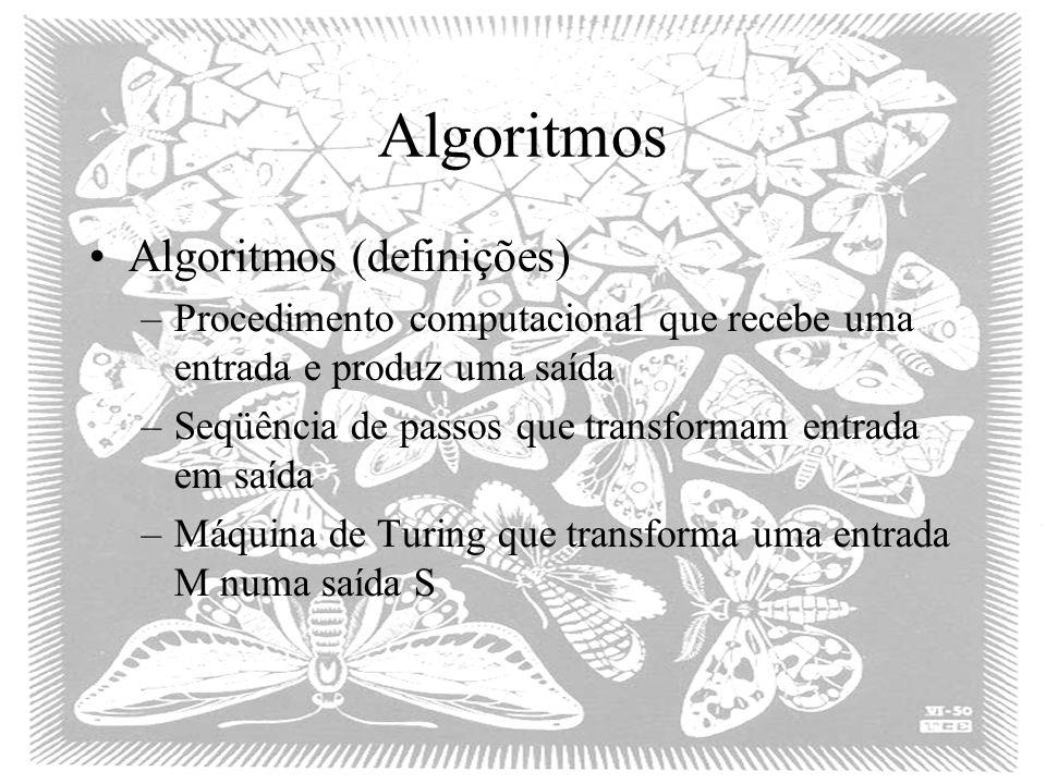 Algoritmos Algoritmos (definições)