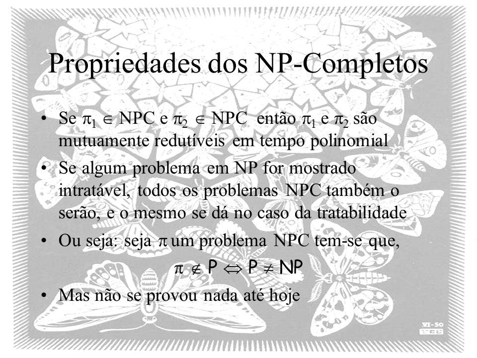 Propriedades dos NP-Completos