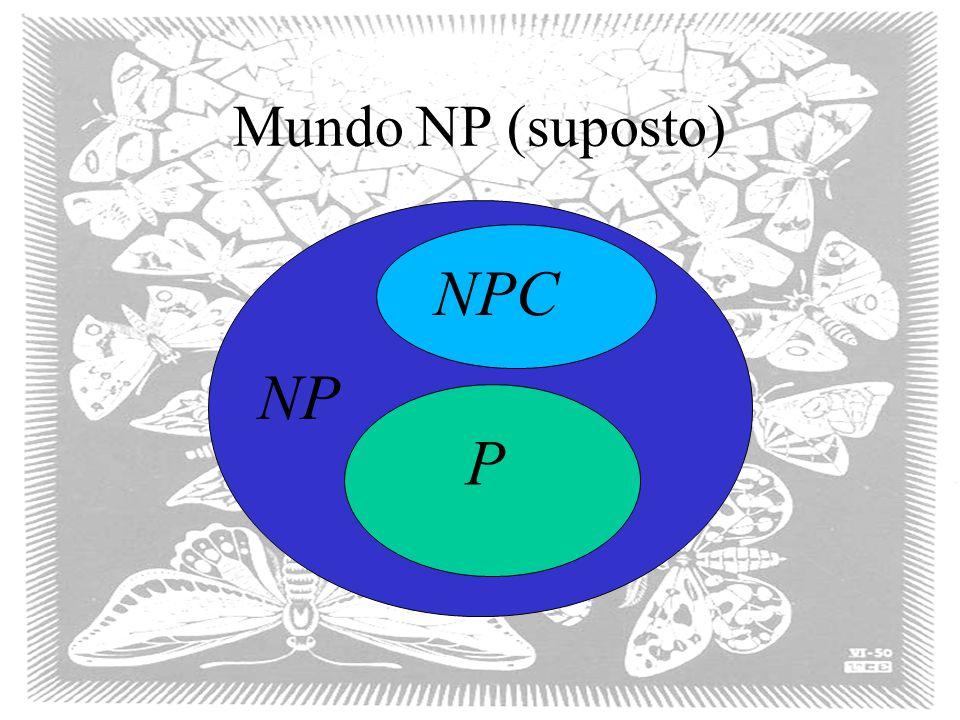 Mundo NP (suposto) P NP NPC