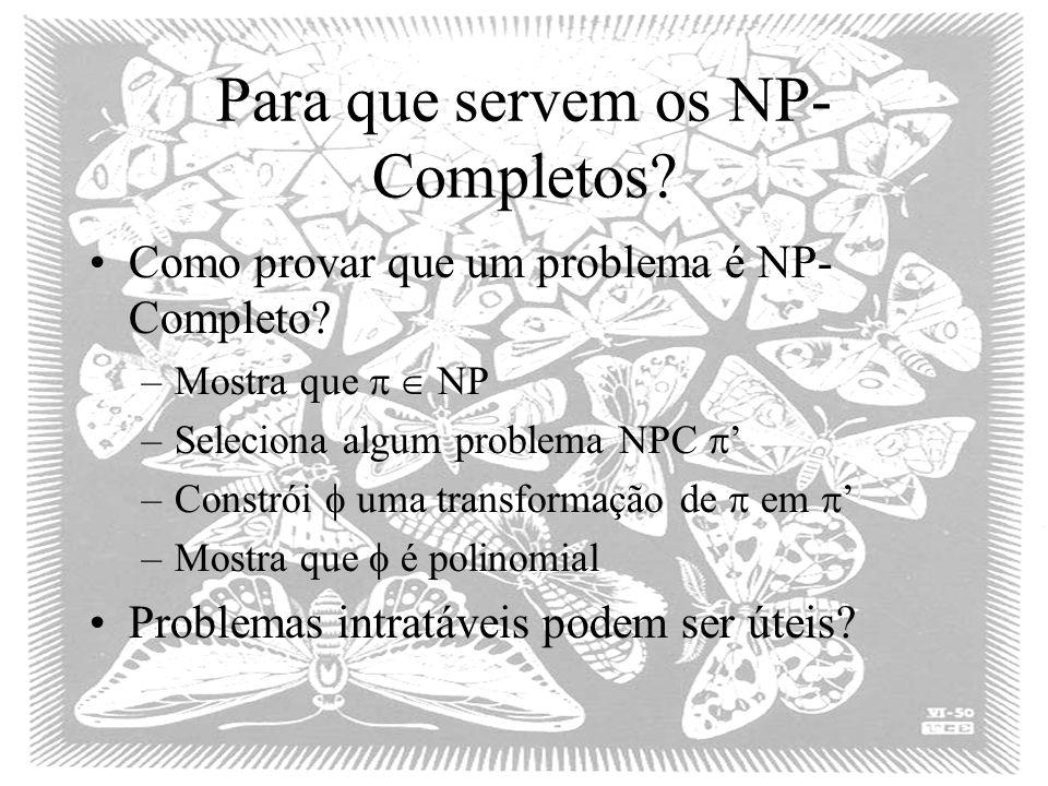 Para que servem os NP-Completos