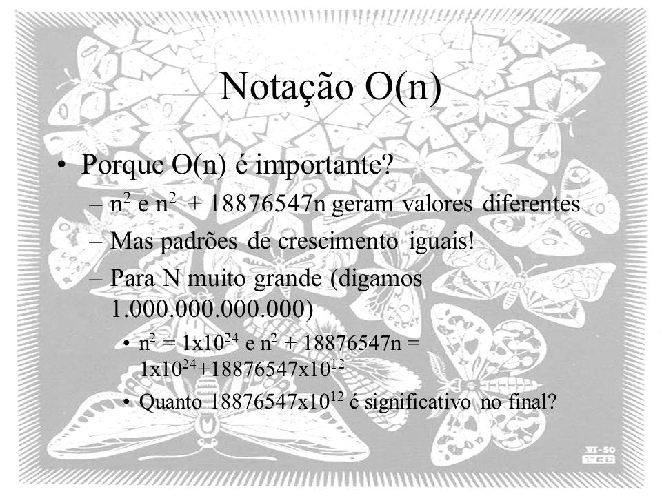 Notação O(n) Porque O(n) é importante