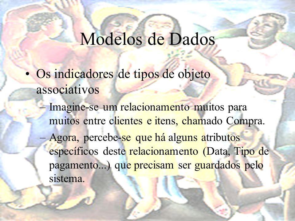 Modelos de Dados Os indicadores de tipos de objeto associativos