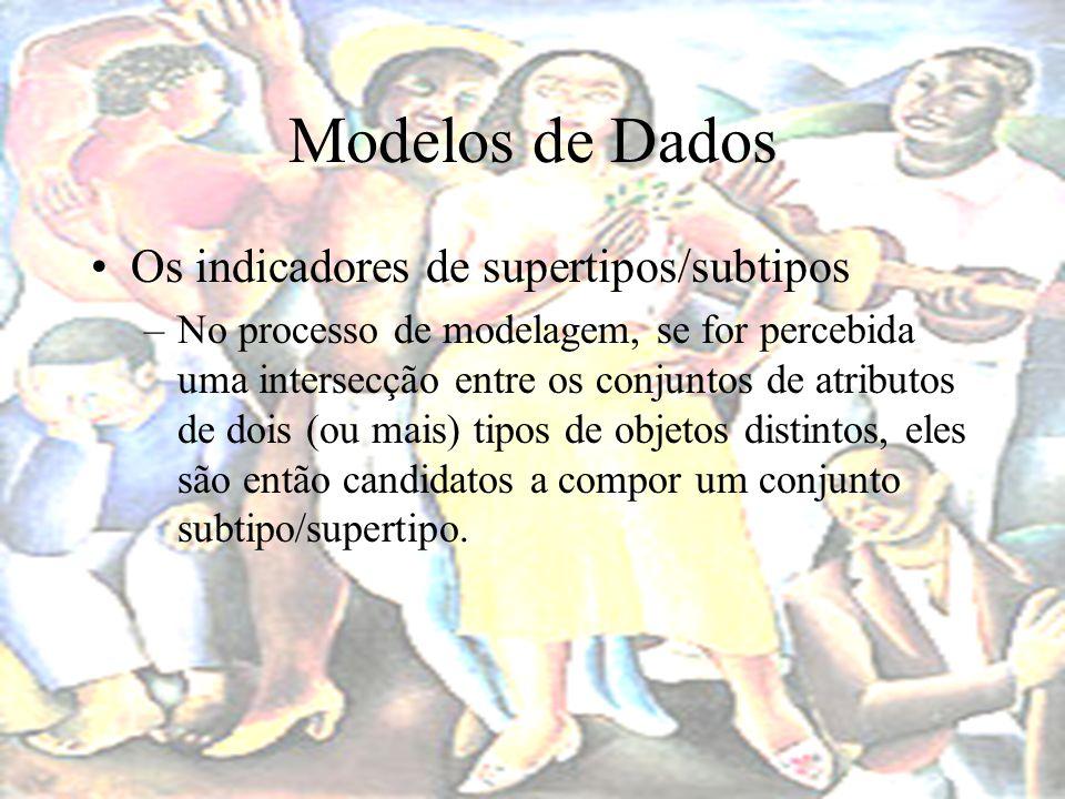 Modelos de Dados Os indicadores de supertipos/subtipos