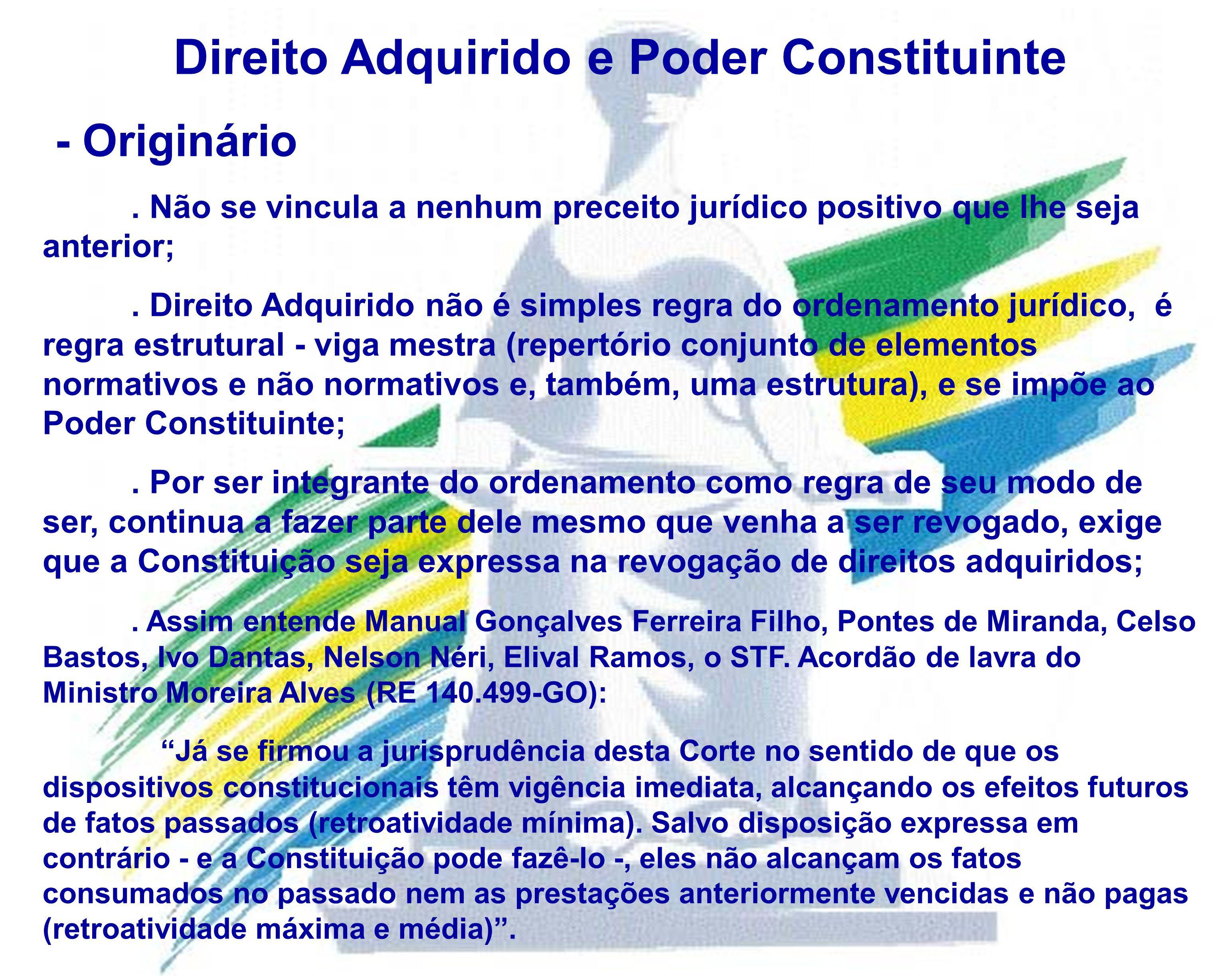 Direito Adquirido e Poder Constituinte