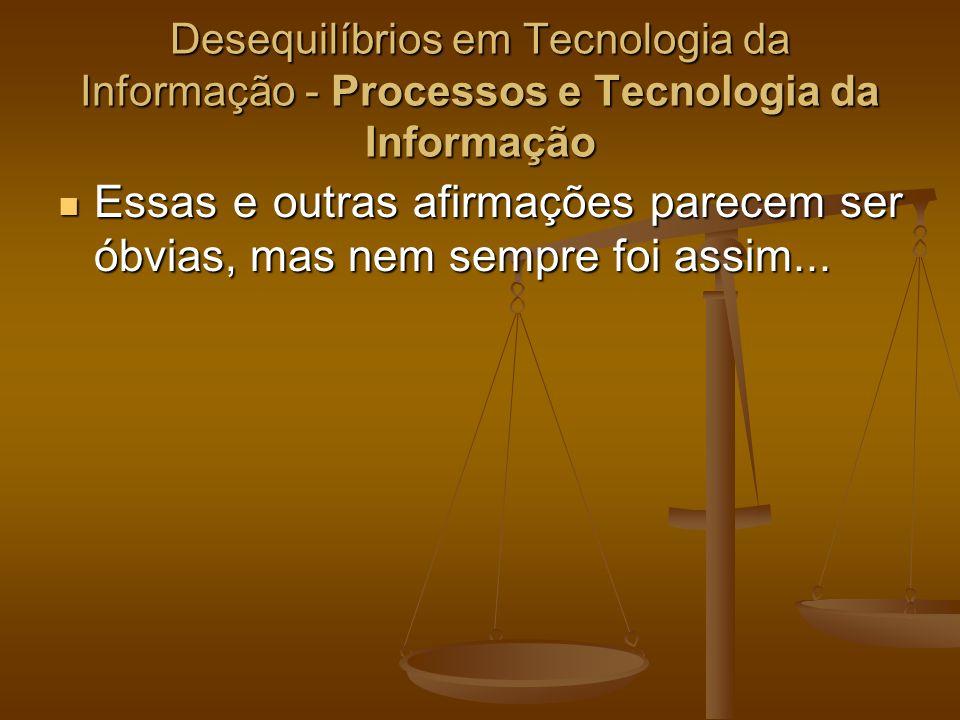 Desequilíbrios em Tecnologia da Informação - Processos e Tecnologia da Informação