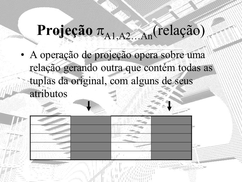 Projeção A1,A2…An(relação)