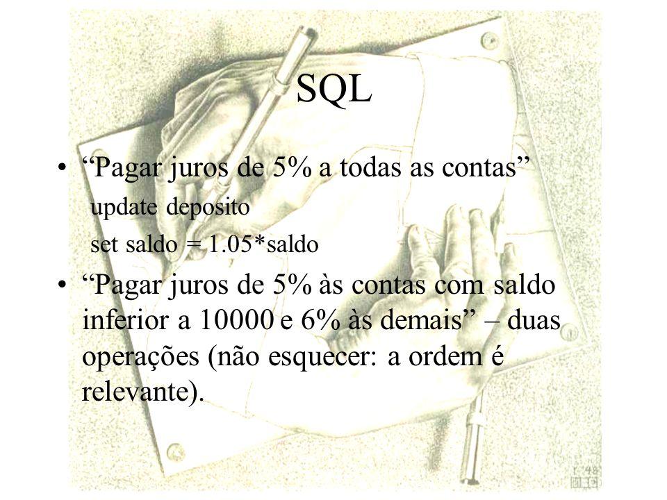 SQL Pagar juros de 5% a todas as contas