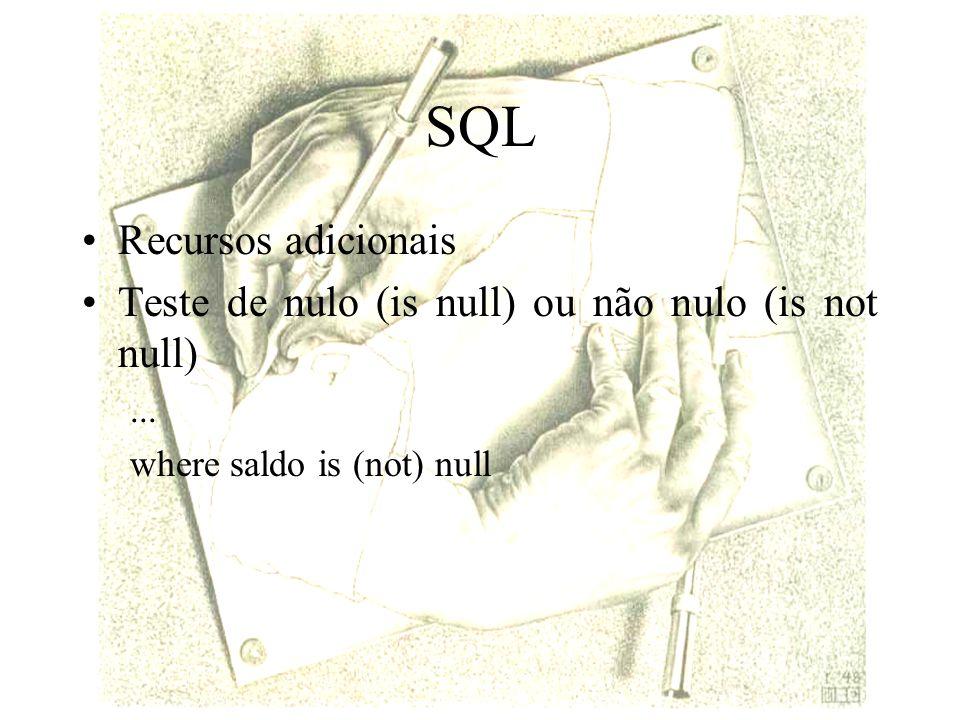 SQL Recursos adicionais