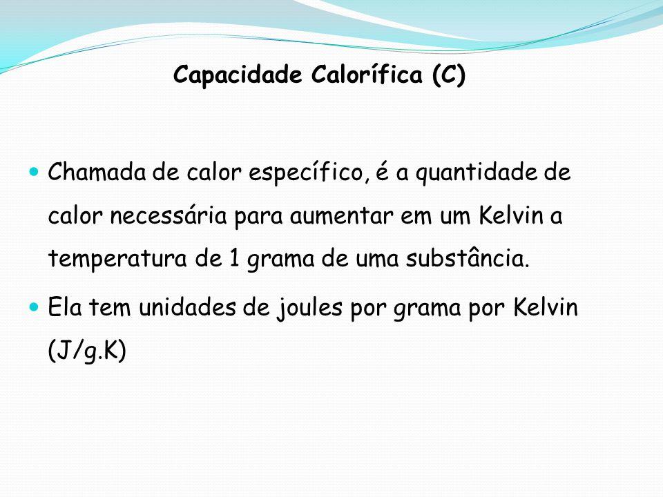 Capacidade Calorífica (C)